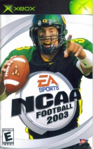 Joey Harrington featured as the cover for EA Sports NCAA Football 2003