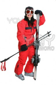 female-skier-in-red-ski-suit-69b535