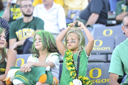 Duck fans were loud and proud in the first half