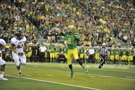 Marcus Mariota showed tremendous touch and poise