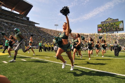 Storming the Autzen Stadium turf