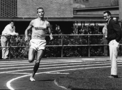 Dyrol Burleson running at Haward Field in 1962