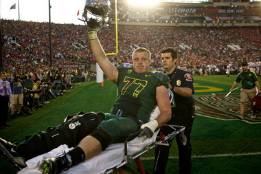 Carson York had just barely returned to action from his Rose Bowl knee injury
