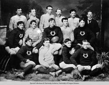 Oregon's 1893-1894 football team. ©University of Oregon Libraries - Special Collections and University Archives