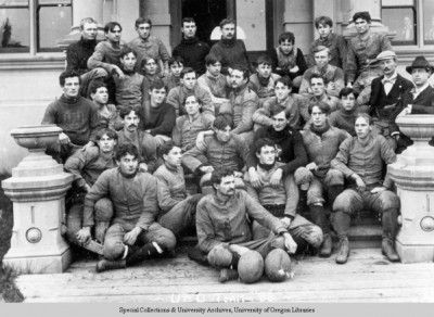 1896 UO football team. ©University of Oregon Libraries - Special Collections and University Archives