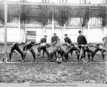 The 1899 UO football team. University of Oregon Libraries - Special Collections and University Archives