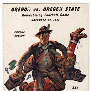 The program from the 1941 Civil War game. ©University of Oregon Libraries - Special Collections and University Archives