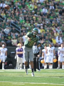 Oregon quarterback Marcus Mariota's passing game should benefit from the addition of Lubick to the staff.