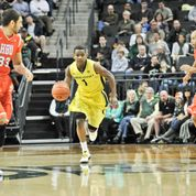 Dominic Artis running the fastbreak