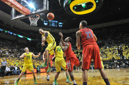 Oregon needs to bring more defensive intensity like this effort by Waverly Austin rejecting an Arizona shot earlier in the season.