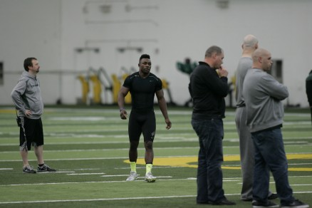 Kenjon Barner at Oregon&#039;s Pro Days<br /> © 2013 Gary Breedlove Photography&#8221; /></a></p> 					 					<div class=