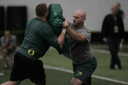 Kyle Long at Oregon&#039;s Pro Days<br />