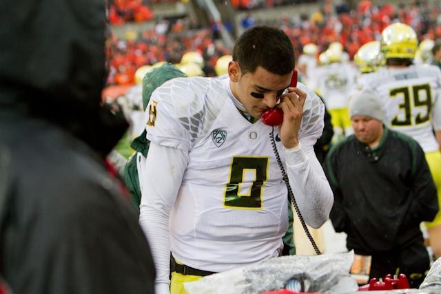 Mariota is a potential top-5 pick in the NFL draft.