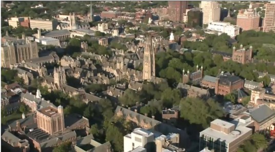 Aerial shot of Yale