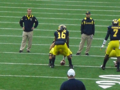 Michigan did not hesitate switching Quarterbacks last year and it worked out well. Just pick a a guy and go.