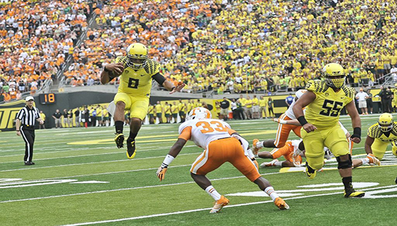Mariota easily flying over Tennessee defensive men