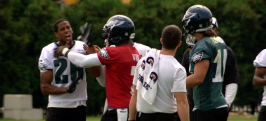 Michael Vick, peacemaker and team leader