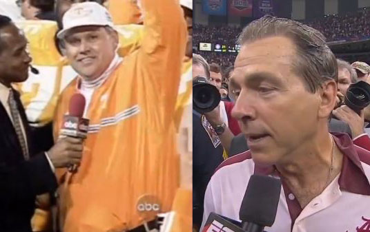 Phil Fulmer and Nick Saban: The first, and likely last, coaches to win the BCS Championship