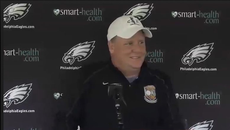 Chip Kelly can't hide a smile