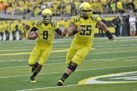 Mariota is the only current player on pace for over 3,000 yards passing and 800 yards rushing in 2013.