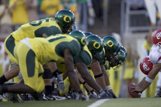 Oregon's only loss in 2005 came to #1 USC.