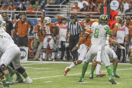 Helfrich is on the lookout for Mariota's potential replacement early in the cycle