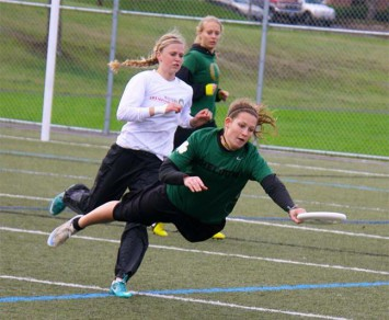 Fugue freshman Hayley Wahlroos with the layout grab.