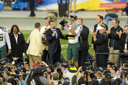 Mariota will likely be collecting more hardware in 2014.
