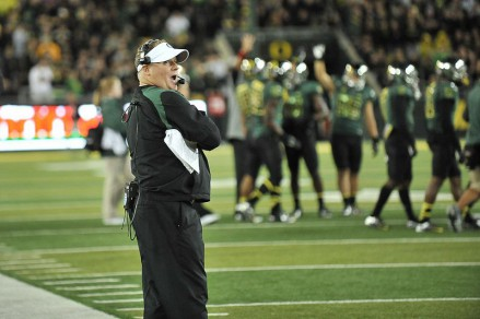 Chip Kelly took the Ducks to unprecedented heights in only 4 years as head coach, and Helfrich now looks to carry on that tradition.