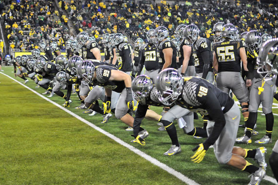 Could another team in silver and black be headed to Autzen Stadium?