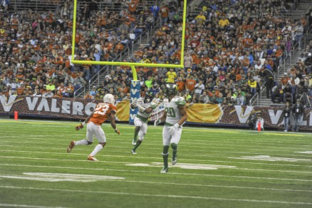 Chance Allen in action against Texas in the Alamo Bowl