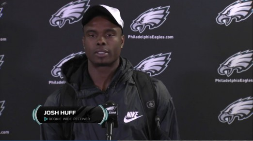Josh Huff after his selection