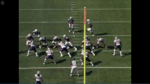 The Dolphins send a man in motion to set up the play from the Wildcat formation.