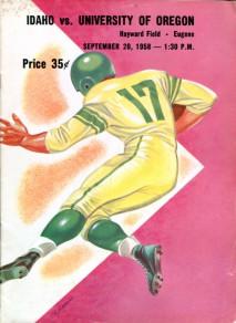 1958 Idaho vs. Oregon program
