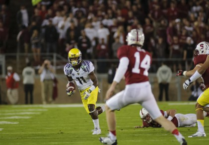 Bralon Addison and the Ducks will look to finally run past Stanford this season.