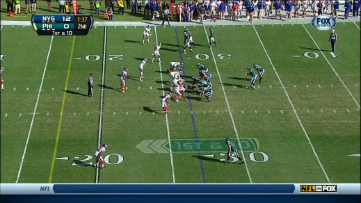 A favorable 2-on-2 blocking matchup for Johnson and Jason Avant.
