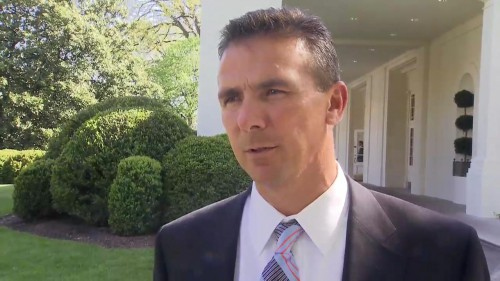 Urban Meyer at the White House...preparing to move in