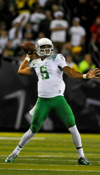 Did Marcus Mariota make his first step to the Heisman Trophy on Saturday?