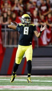 Marcus Mariota threw for 5 TD's and over 300 yards.