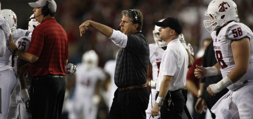 Mike Leach had the linemen on both sides of the ball ready to play
