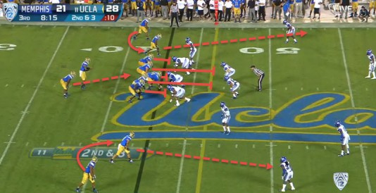 This play can be called a WR screen or bubble screen
