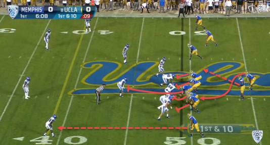 This is just one way UCLA has a very similar offense to Oregon's