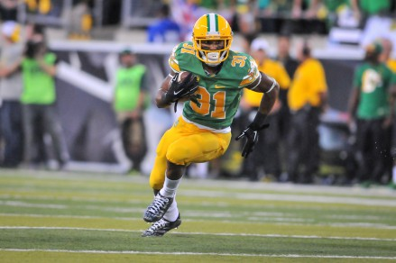 Bassett's vision and quickness make him a threat at running back.