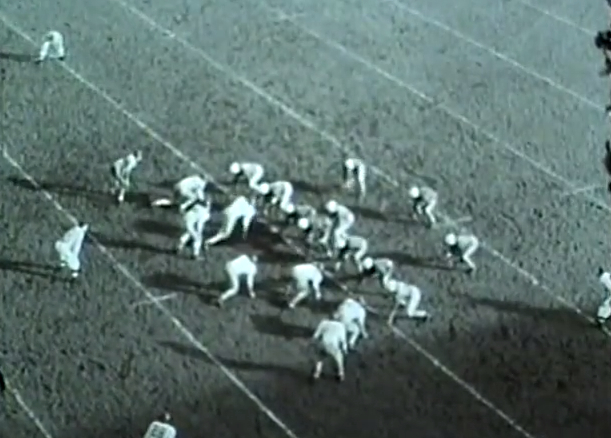 The Ducks at the line of scrimmage in 1947
