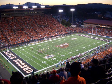 Reser Stadium has been the home of Oregon State's recent major upsets in the last ten years.