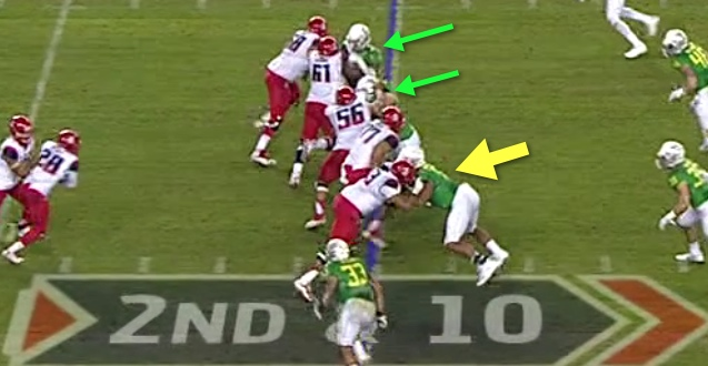 At his height, Armstead can see easily into the backfield with good technique.