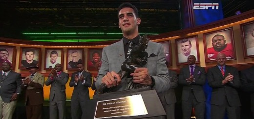 Marcus Mariota the 2014 Heisman Trophy winner
