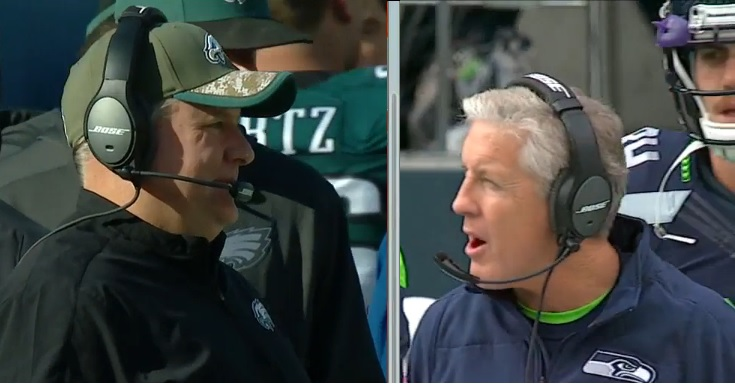 Chip Kelly faces Pete Carroll, NFL style