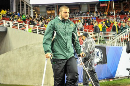 Hroniss Grasu has been watching from the sidelines the past few weeks as he heals up.