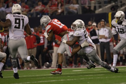 The Duck defense tried, but they couldn't contain Ezekiel Elliot.